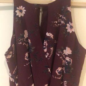 Francesca's purple floral dress